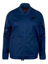 Nike Sportswear Women's Woven Jacket Ladies Nike Logo Jacket - Coastal Blue
