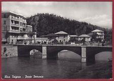GENOVA SESTRI LEVANTE 32 RIVA TRIGOSO PONTE Cartolina FOTOGRAFICA viaggiata 1961