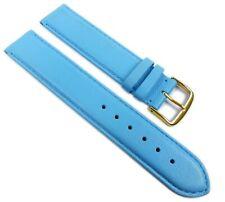Herzog plage XL Bracelet de rechange bande montre en cuir veau Alaska - Bleu