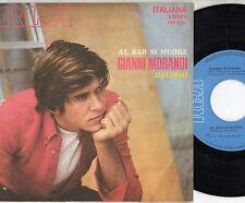 GIANNI MORANDI disco 45 giri MADE in ITALY Al bar si muore + Il delirio 1969