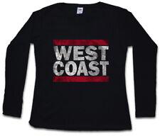 West Coast da Donna Manica lunga T-SHIRT RUN Fun USA United States New City Band side
