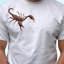 Scorpion Blanc T Shirt Insecte Animal Tee Top-Hommes Femmes Enfants Bébé Tailles