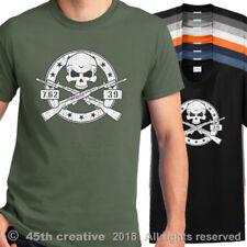 SKS Rifle Skull T-Shirt sks crossbones t shirt 7.62x39 assault rifle tee shirt
