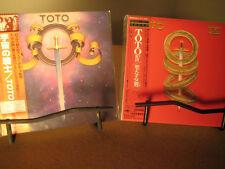 TOTO 1ST & 4 RARE JAPAN REPLICA'S TO THE ORIGINAL OBI 2 CD SET ONE TIME PRICE