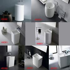 Freistehendes Waschbecken Standwaschbecken Waschtisch Mineralguß weiß matt