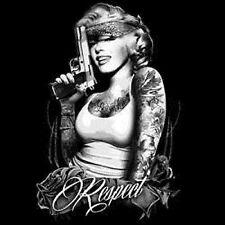 Marilyn Hoodie Respect Gun Tats Bandana Marilyn Monroe Gangster