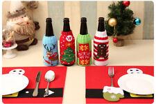 UK stock a Maglia Maglione Natale Bottiglia di vino Copertura Wrap Party Decorazione Casa