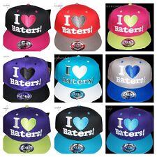 I Love Haters! Snapback Coperchi, Piatto Picco Baseball Aderente Cappelli, Rare, HipHop Urbana