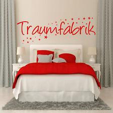 Wandtattoo 03061 Schlafzimmer Traumfabrik + Sterne Spruch Kinderzimmer Aufkleber