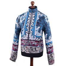 DOLCE & GABBANA Jacke aus Seide Blau Silk Jacket Blue 03813