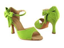 Latin Salsa Very Fine Dance Shoes SERA7010 Green Yellow Peach Black & Grey