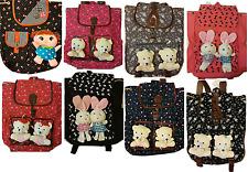 Latest Fashion Women Girls Shoulder School Travel Bag Backpack Rucksack 3D Teddy