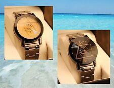 """Montre femme homme horloge  """" Engrenage 2 """" bracelet acier inoxydable    U03"""