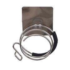 Wall Hair Dryer Holder Rack Wal Mounted Holder Shelf Storage Organizer W