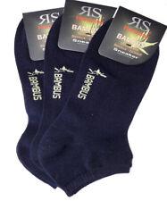 3 Paar Herren Bambus Sneaker Socken Füßlinge dunkelblau Größe 39 bis 46