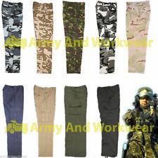 6 poches Cargo Combat Pantalon de travail vêtement militaire sécurité armée Uni