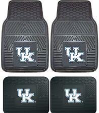 Kentucky Wildcats Heavy Duty Floor Mats 2 & 4 pc Sets for Cars Trucks & SUV's