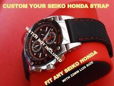 Cinturino in gomma di qualità banda Fit Seiko HONDA 7t62-0gr0 sna749 7t62-OGRO snj019 più