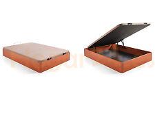 Hogar24.es-Canape abatible madera, tapa 3D, válvulas de transpiración, cerezo