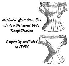 Civil War Antebellum Ladys Petticoat Draft Pattern 1862