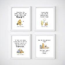 Winnie the Pooh Nursery Bedroom Decor Kids Wall Prints A5, A4 or 8x10
