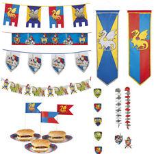 Ritter Dekoration Geburtstag: Girlande Banner Hängedeko Wimpelkette Sticks