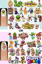 60x The Muppets OR Muppet Babies Nail Art Decals + Free Gems Kermit Miss Piggy