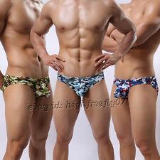Super Soft & Thin Men's Camouflage Bikinis Briefs Underwear Comfty Pouch Briefs
