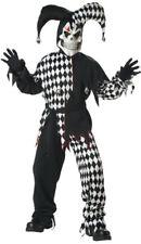 Scary Bloody Evil Jester Clown Boys Children Costume (Black/White)