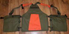 Hunting, Shooting, Falconry Vest, Gun Dog Handlers, (Orange Reflector) Work K9