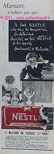 PUBLICITE CHOCOLAT NESTLE KOLHER ECOLE 1957 FRENCH AD