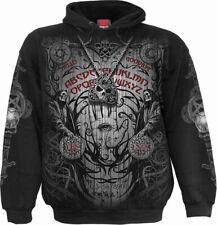 Spiral Direct SPIRIT BOARD Hoody,Reaper/Gothic/Biker/Horror/Pullover/Skull/Hood