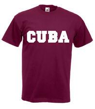 CUBA Motiv T-Shirt bordeaux