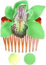 Edle Tiki ORCHIDEEN Blüten Flower Haarnadel Gelb
