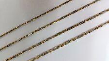"14K Gold Figarope Chain Yellow White 3mm ~ 4.5mm / 16"" ~ 28"""