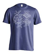 New Men's Brain Power DNA Evolution T-Shirt USA Life Science Biology Graphic Tee
