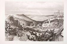 terre sainte - Vallée de Nazareth, gravure vers 1885