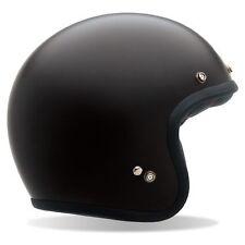 LONDON MOD ROCKER BELL CUSTOM 500 MATT BLACK MOTORCYCLE ROAD RETRO CRASH HELMET
