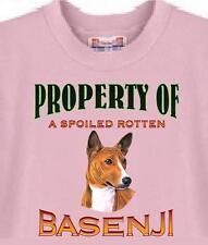 Big Dog T Shirt Property of a Basenji 267 Animal Friend Puppy Men Women Adopt
