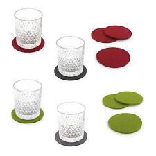 Filzuntersetzer rund 4er Pack Tisch & Bar - Glasuntersetzer Untersetzer aus Filz
