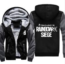 Rainbow Six Siege Winter Hoodie Mens Game Fleece Thick Jacket Warm Sweatshirt