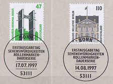 BRD 1997: berus-MONUMENTO E SERRATURA Bellevue! SWK n. 1932+1935 con Bonn-timbro!