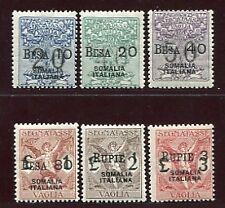 1924 Colonie Somalia Tasse Vaglia valori in rupie 6 val. nuovi