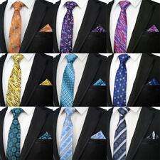 2018 Men's Tie Set 8CM Floral Striped Silk Necktie Neck Ties Pocket Square Sets