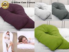 Extra Fill 12ft Comfort U Pillow & Case Body Support Nursing Maternity Pregnancy