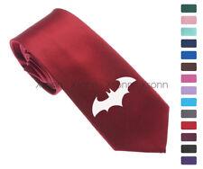 """Cool Batman Logo Pattern Skinny Slim Men Woven Silk 2.5"""" Tie Necktie K77"""