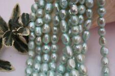 BR405 Zuchtperlen Strang Süßwasser Perlen Schmuck Kette Halskette 8-9mm barock
