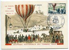 CARTE MAXIMUM  1955  FDC JOURNEE DU TIMBRE PARIS