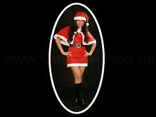 Nikolauskostüm Santa Claus Fleece Kostüm Damen Weihnachten Nikolaus Gr. 38 - 40