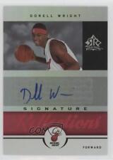 2005-06 Reflections Signature Red #SR-DW Dorell Wright Miami Heat Auto Card